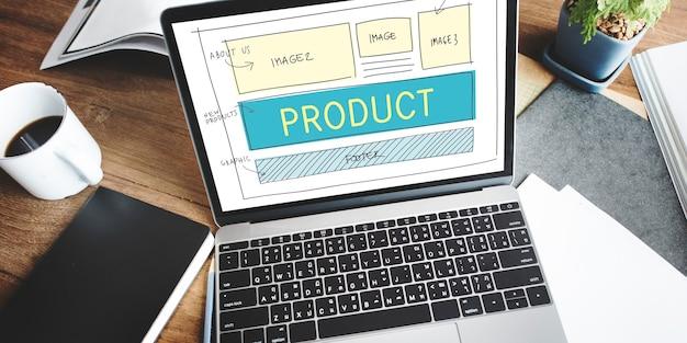 Concepto de distribución de suministro de fabricación de producción de producto