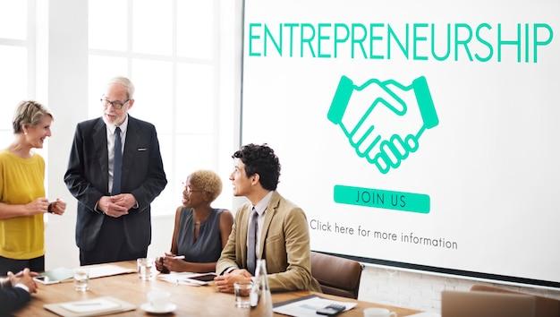 Concepto de distribuidor de empresa corporativa de espíritu empresarial