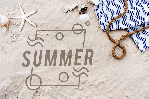 Concepto de diversión de vacaciones de verano
