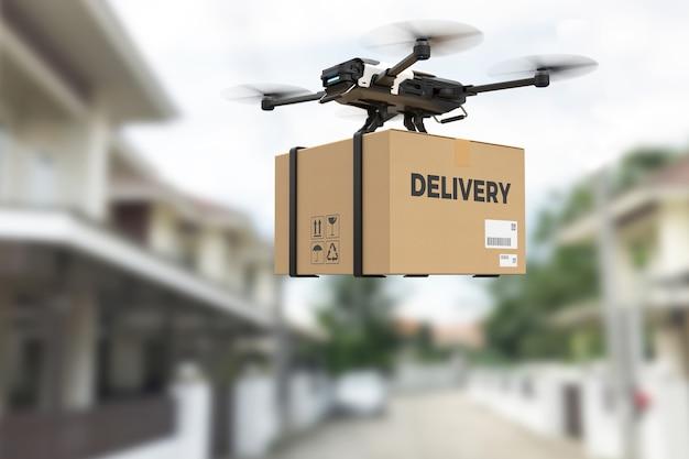 Concepto de drone de entrega