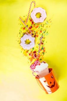 Concepto de dulces de halloween