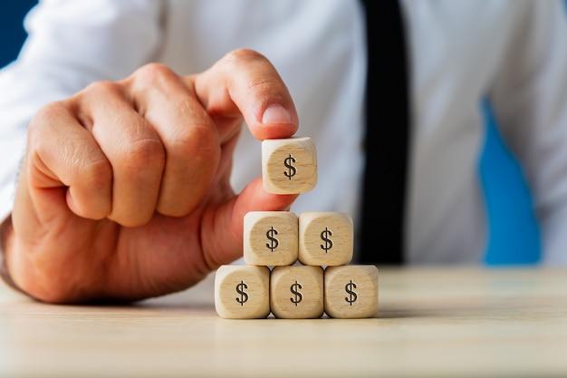 Concepto de economía y finanzas empresariales
