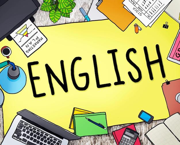 Concepto de educación del idioma inglés británico inglaterra