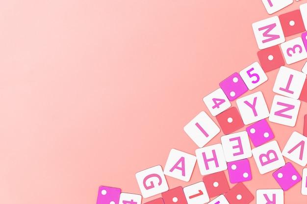 Concepto de educación imagen de un número de alfabeto para juguete de bebé