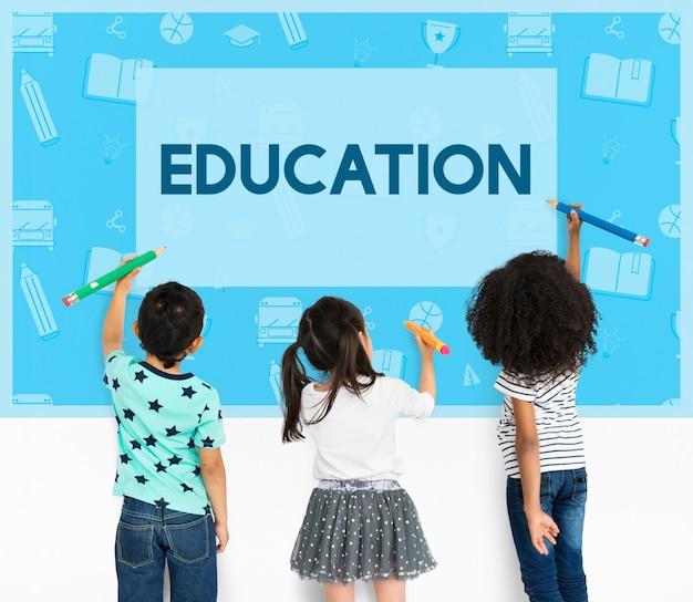 Concepto de educación temprana de sabiduría escolar