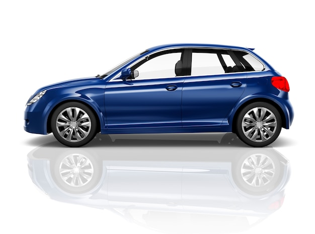 Concepto del ejemplo 3d del transporte del vehículo del coche