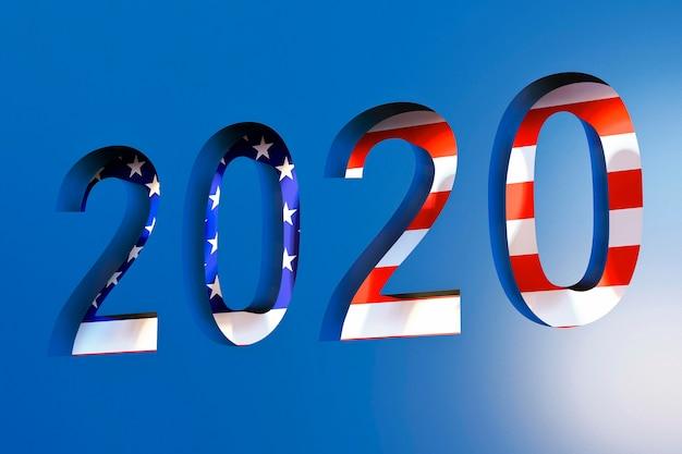 Concepto de elecciones estadounidenses con bandera americana