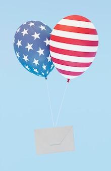 Concepto de elecciones estadounidenses con espacio de copia