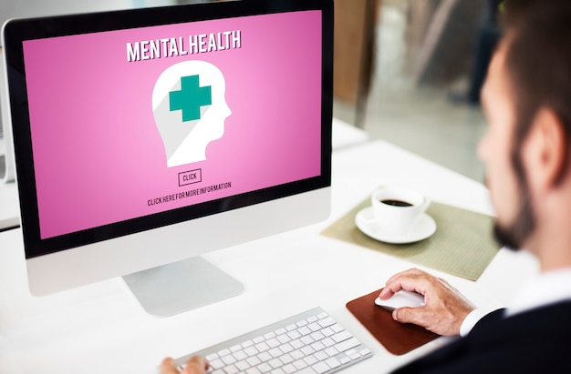 Concepto emocional de gestión del estrés psicológico de salud mental
