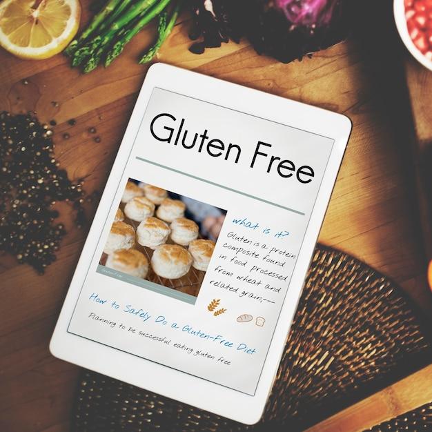 Concepto de enfermedad celíaca sin gluteína