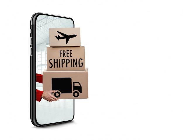 Concepto de envío gratis