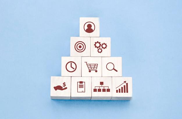 Concepto de equipo de construcción de negocios de gestión y contratación de recursos humanos