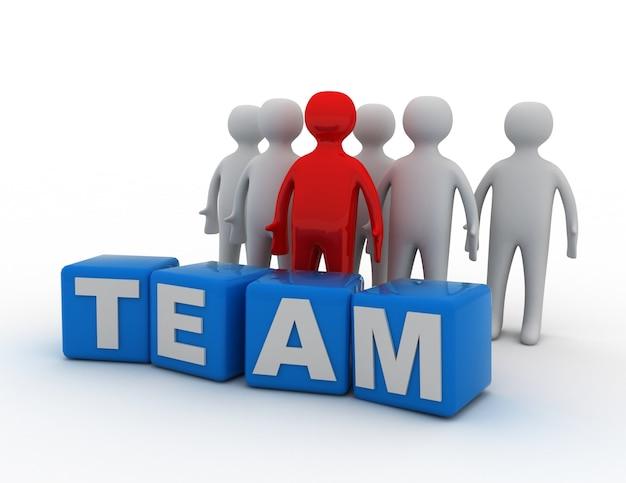 Concepto de equipo. ilustración 3d