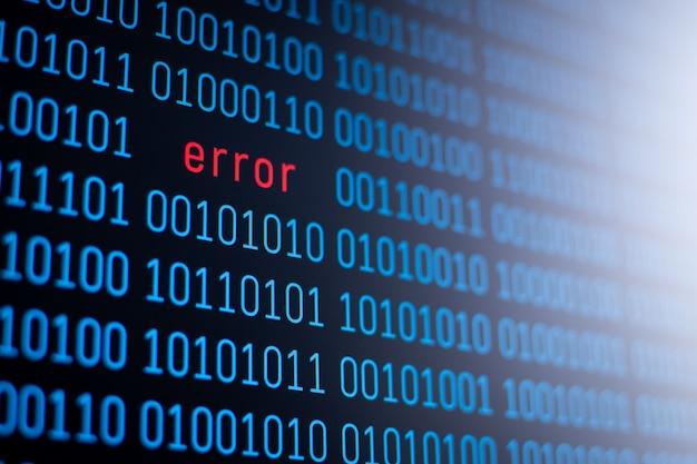 Concepto de error en el código del programa. detección de gusanos, errores y virus peligrosos en programas informáticos.