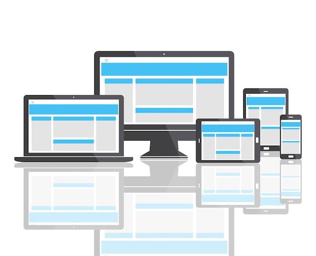 Concepto de espacio de copia de plantilla de diseño web
