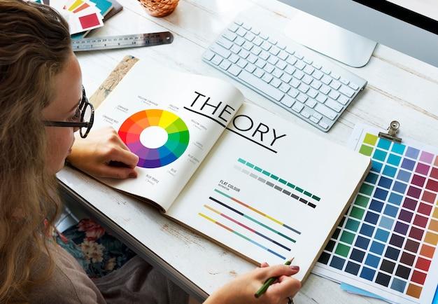 Concepto de esquema de color de gráfico de teoría
