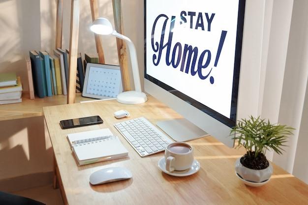 Concepto de estancia en casa