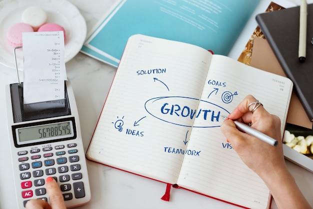 Concepto de estrategia de crecimiento empresarial