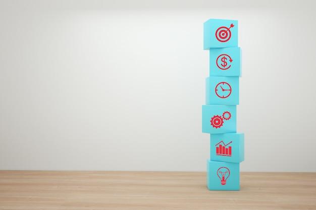 Concepto de estrategia empresarial y plan de acción.