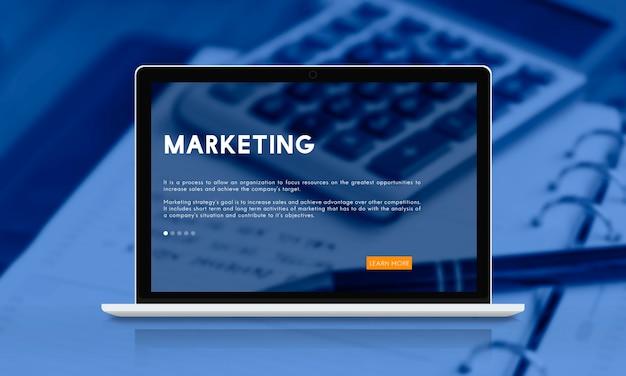 Concepto de estrategia de marketing empresarial emprendedor
