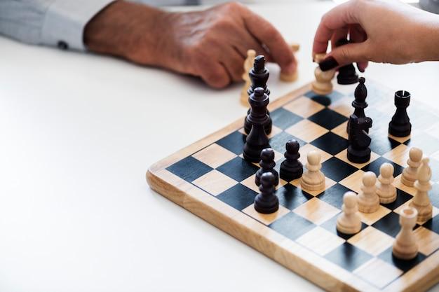 Concepto de estrategia de negocio de juego de ajedrez