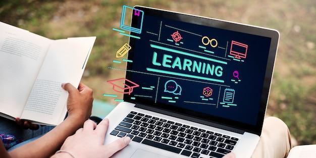 Concepto de estudio de inteligencia de aprendizaje de ideas de educación