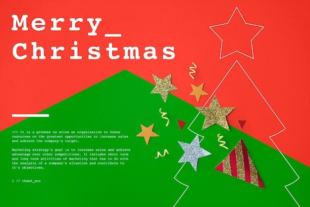 Concepto de evento de celebración de feliz navidad