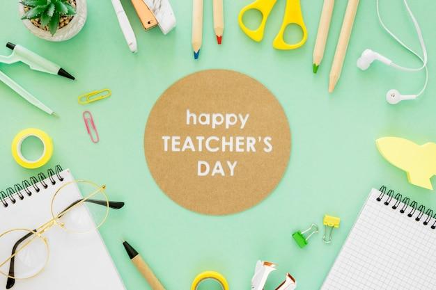 Concepto de evento del día del maestro