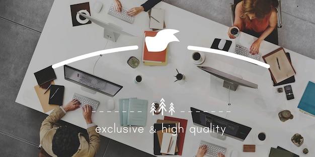 Concepto exclusivo de marca de marca de alta calidad
