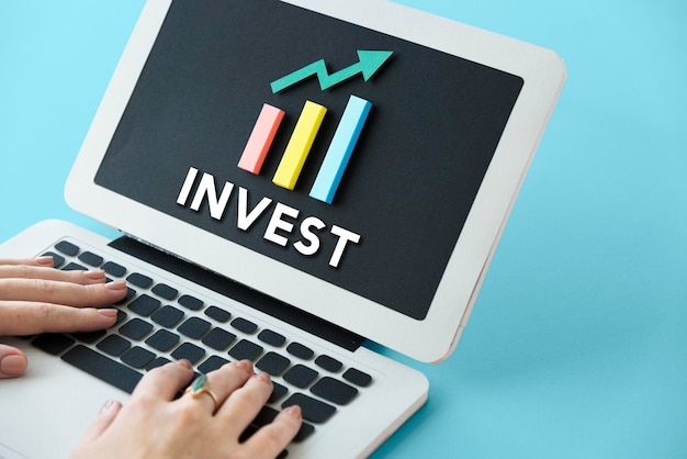 Concepto de éxito de ganancias de mejora de desarrollo de crecimiento de gráfico