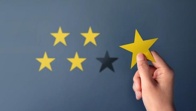 Concepto de experiencia del cliente, los mejores servicios excelentes para la satisfacción