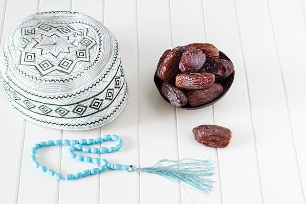 Concepto de fe musulmana (islámica) taqiyah (tapa de calavera)