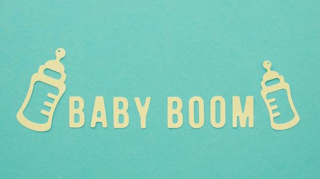 Concepto de fertilidad del baby boom