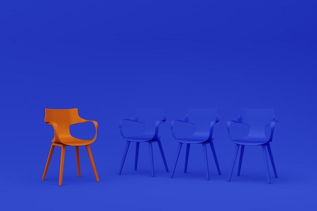 Concepto de fila de sillas