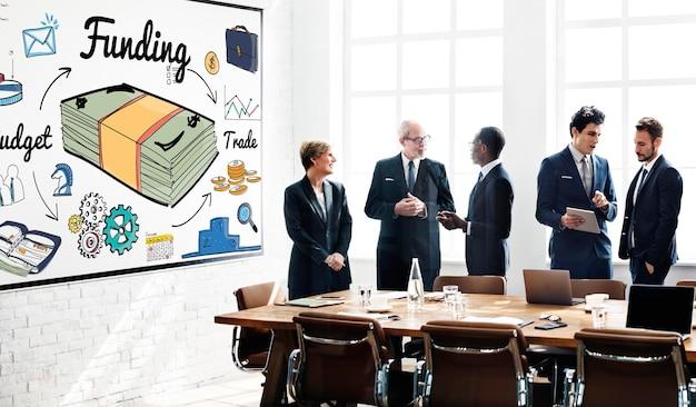 Concepto financiero de crédito de presupuesto bancario de financiación