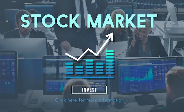 Concepto financiero de inversión de la economía bursátil