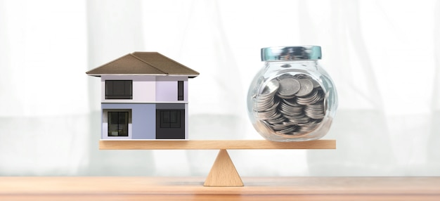 Concepto financiero de inversión inmobiliaria e hipoteca de vivienda
