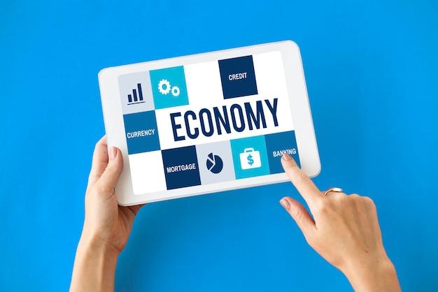 Concepto de finanzas de contabilidad de comercio de economía