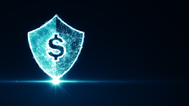 Concepto fintech. tecnología financiera y dinero digital. banca en línea de tecnología financiera. concepto de tecnología de pago de banca de inversión empresarial.