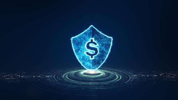 Concepto fintech. tecnología financiera y dinero digital.