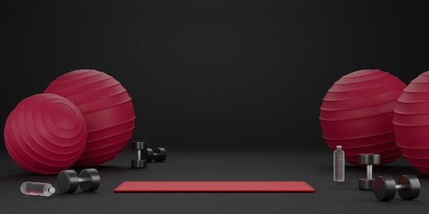 Concepto de fitness 3d