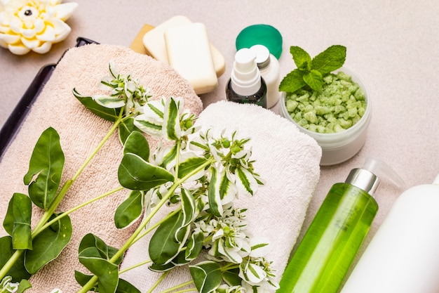 Concepto de flor de spa saludable y belleza