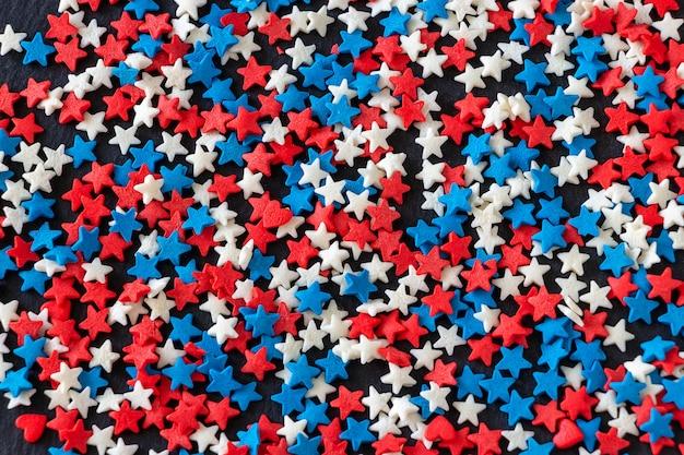 Concepto de fondo de color de bandera estadounidense el 4 de julio usa día de la independencia.