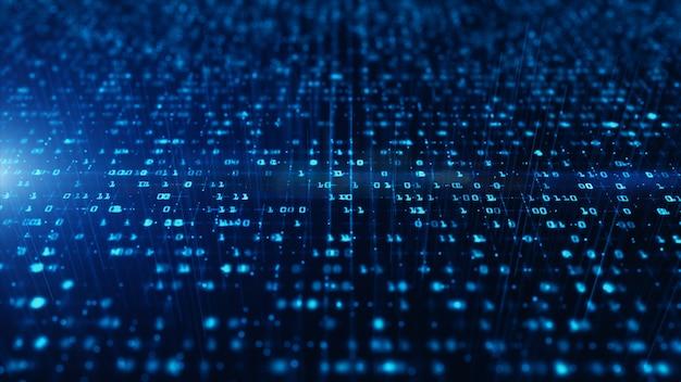 Concepto de fondo de conexión de datos de red de tecnología, red de datos digitales y seguridad cibernética