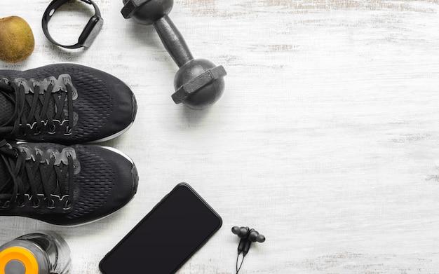 Concepto de fondo de estilo de vida en forma y saludable.