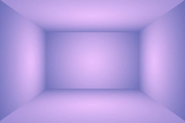 Concepto del fondo del estudio - fondo púrpura abstracto vacío vacío del sitio de estudio de la pendiente para el producto.