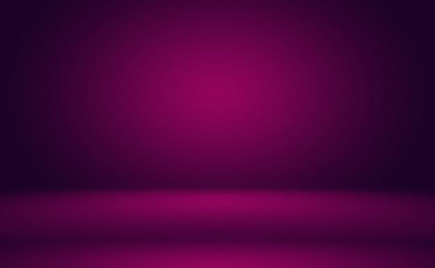 Concepto del fondo del estudio - fondo púrpura del sitio del estudio de la pendiente ligera vacía abstracta para el producto. fondo liso del estudio.