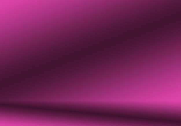 Concepto del fondo del estudio - fondo púrpura del sitio del estudio de la pendiente ligera vacía abstracta para el producto.