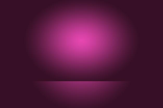 Concepto de fondo de estudio: fondo de sala de estudio púrpura degradado oscuro para el producto. Foto gratis