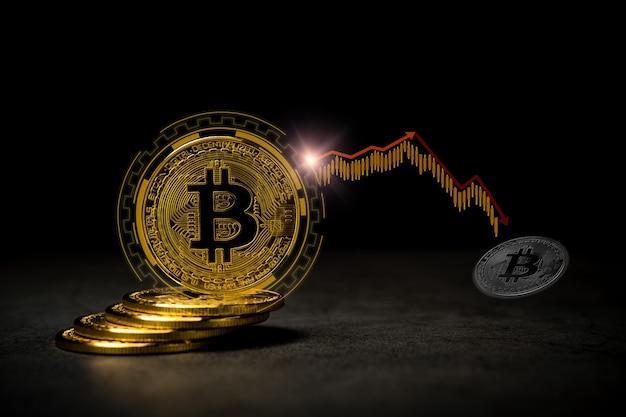 Concepto de foto de bitcoin de moneda digital